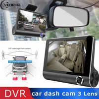 Vehemo Mit 3 Rückansicht 4inch HD Bildschirm Auto DVR Dash Cam Kamera Multi Funktion Automotive Fahren Recorder Kamera multimedia