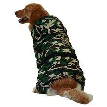 Gros chien vêtements pour animaux de compagnie hiver chaud Camouflage combinaison à capuche Golden Retriever manteau veste pour grands chiens Ropa Para Perro Chihuahua