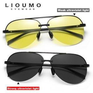 Image 2 - 항공 선글라스 남자 편광 된 브랜드 데이 나이트 비전 운전 안경 여성 photochromic sun glasses 남성 uv400 oculos de sol