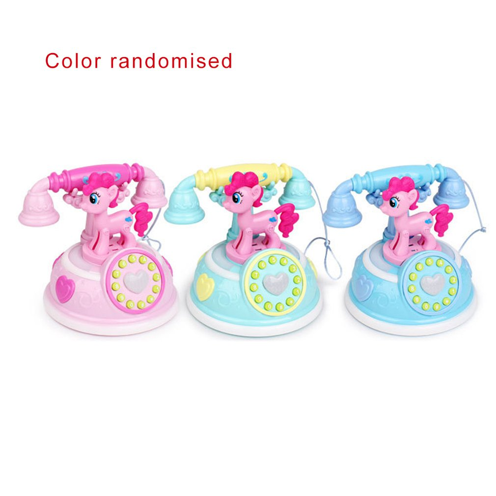 High Quality Retro Telephone Early Education Story Machine Multi-mode Simulation Telephone Girl Toy