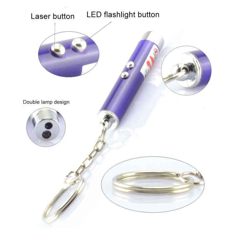 어린이 장난감 컬러 LED 레이저 인기있는 펜 애완 동물 무작위 레드 1Pc 재미 있은 고양이 빛 흰색 포인터 놀이 새끼 고양이 대화 형 고양이 장난감