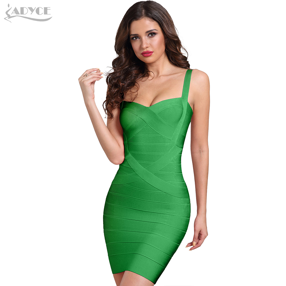 ADYCE 2019 New Summer Women Black Bodycon Bandage Dress Pink Blue Sexy Lady Spaghetti Strap Runway Club Celebrity Party Dresses