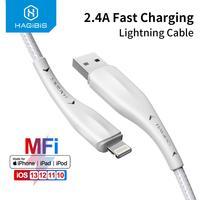 Hagibi, Cable USB MFi para iPhone 11 Pro X XS 8 2,4 a, Cable Lightning de carga rápida para iPhone 6, Cable de datos USB, Cable cargador de teléfono