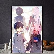 Anime mangá darling no franxx arte posters pintura em tela cartazes e impressões cuadros arte da parede imagem para sala de estar decoração
