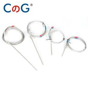 0-800 degree M8 1m 2m 3m 5m K J PT100 Type 50mm 150mm 100mm 200mm Probe Screw Thread Cable Thermocouple Oven Temperature Sensor