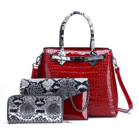 Trend Women's Bag 2019 Summer New Style LADY'S Bags Shoulder shou ti wang Red Celebrity Style Crocodile Pattern Bag