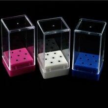 3 типа, 7 отверстий, держатель для сверла для ногтей, акриловый прозрачный пластиковый дисплей для электрического маникюра, выставочные инструменты, коробка для ногтей