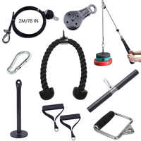Fitness Home Gym Cable Machines Attachment Crossfit Bodybuilding Muscle Strength Training Workout Accessories Tricep Excercise