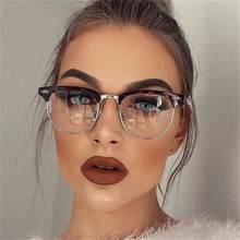 Clásico gafas con montura metálica mujeres Retro gafas De protección contra luz azul De los hombres Monturas De gafas Lentes Mujer