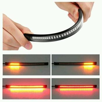 Waterproof Super Bright Flexible Strip Light Decoration 48 LED Light Signal Light Universal For Auto Car Motorcycle Truck image