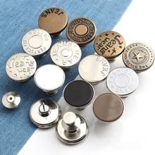 Сменные джинсовые пуговицы для одежды, идеально подходят для джинсов, регулируемая булавка, швейные пуговицы для одежды, аксессуары ручной ...