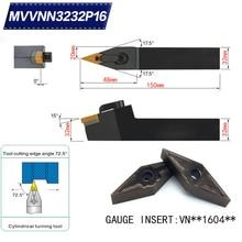 Mvnn3232p16 72,5 градусов резец для наружной обточки держатель для VNMG160404 VNMG160408 используется на токарном станке с ЧПУ