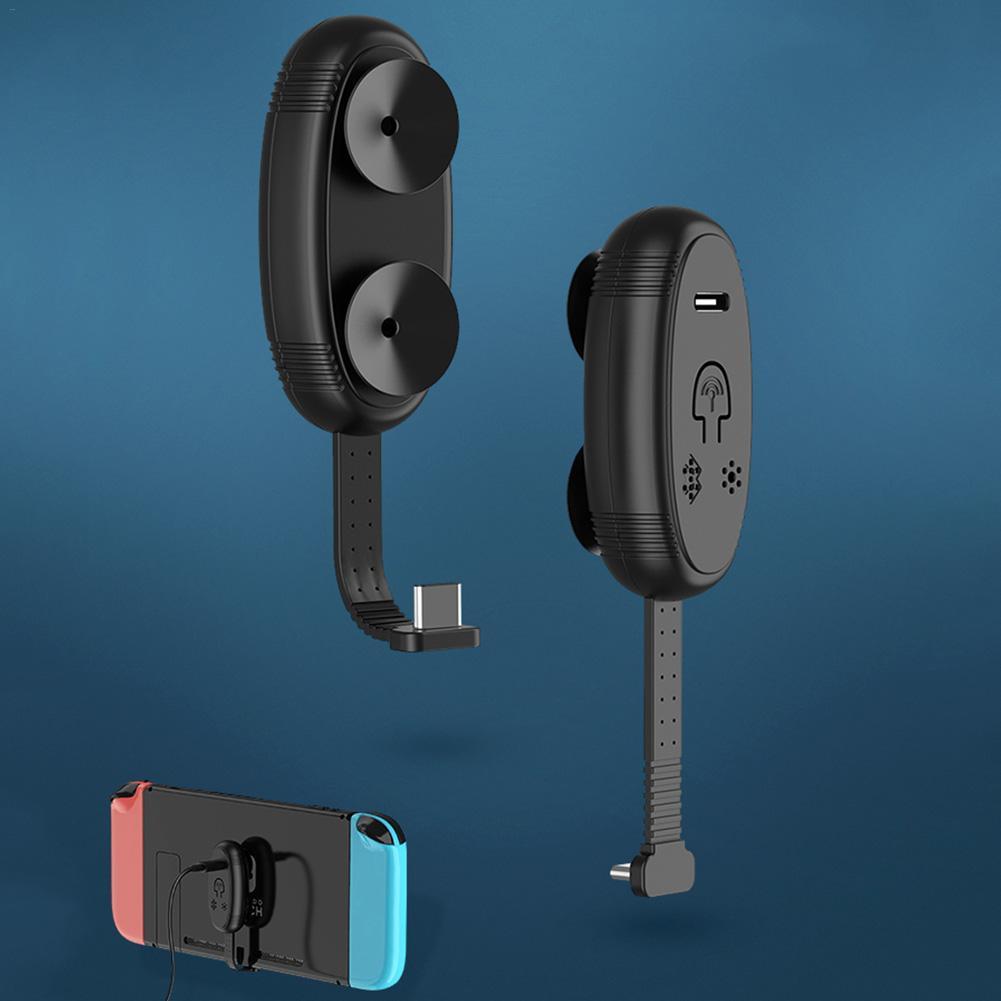 Tipo C-Transmissor de Áudio sem fio Bluetooth 5.0 Stereo Transceiver Adaptador Suporte APTX LL SBC Interruptor de Baixa Latência Para Nintendo