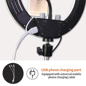Image 4 - GSKAIWEN 10 in LED for Live Selfie Studio Makeup Beauty Video Dimmable  Photography Ring Light with Tripod