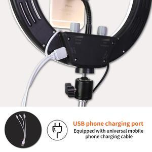 Image 4 - GSKAIWEN 10 w LED na żywo Selfie Studio makijaż uroda wideo ściemnialna lampa pierścieniowa ze statywem