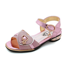 Girls Sandals Children Shoes 2019 New Summer Pearls Kids for PU Leather Flowers Princess Sandal