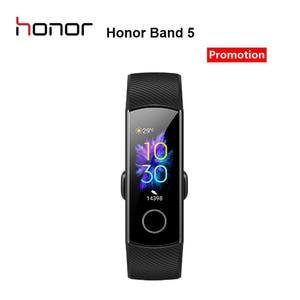 Image 2 - سوار معصم ذكي 5 من Honor Band مزود بمراقب للسباحة والسباحة والكشف عن معدل نبض القلب وقفوة للنوم وشاشة ملونة AMOLED 0.95 بوصة