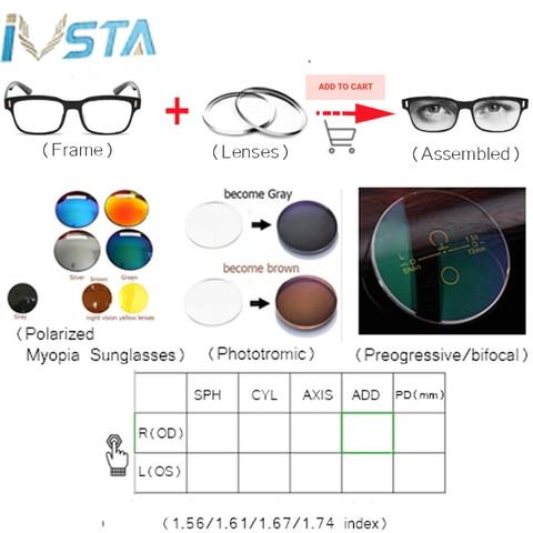 IVSTA Computer Glasses Blue Light Blocking Anti Blue Rays Gaming for Gamer Prescription Nerd Optical Night Vision Dropshipping Islamabad