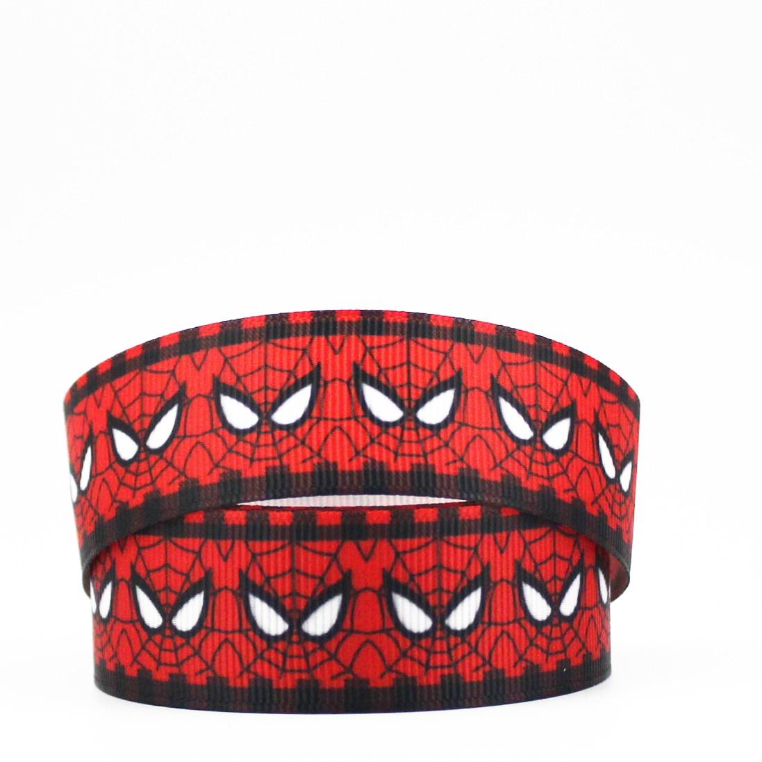 Fita de personagem vermelho gorgorão diy hairbow headwear impresso fita de gorgorão presente decoração fita 16mm22mm 25mm 38mm 57mm 75mm