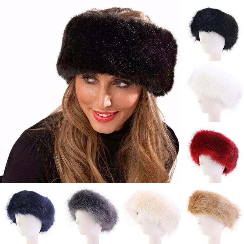 New Women Winter Ear Warmer Fox Fur Hat Elegant Soft Fluffy Artificial Fur Cap Luxurious Quality Fake Fur Bomber Hats Soft Caps