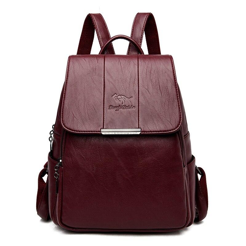 Nouveau dames sacs à dos en cuir femme sacs à bandoulière Anti-vol sac à dos sac à dos décontracté sac d'école pour adolescent voyage sac à dos 2019