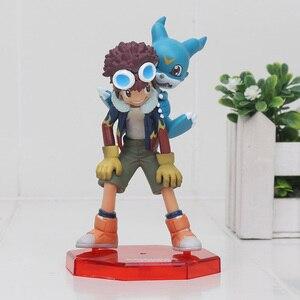 Image 1 - 11cm Digital Digimon Figure ISHIDA YAMATO Gabumon yagami taichi Sora agumon PVC Action Figure Digimon Colletion Model Toy