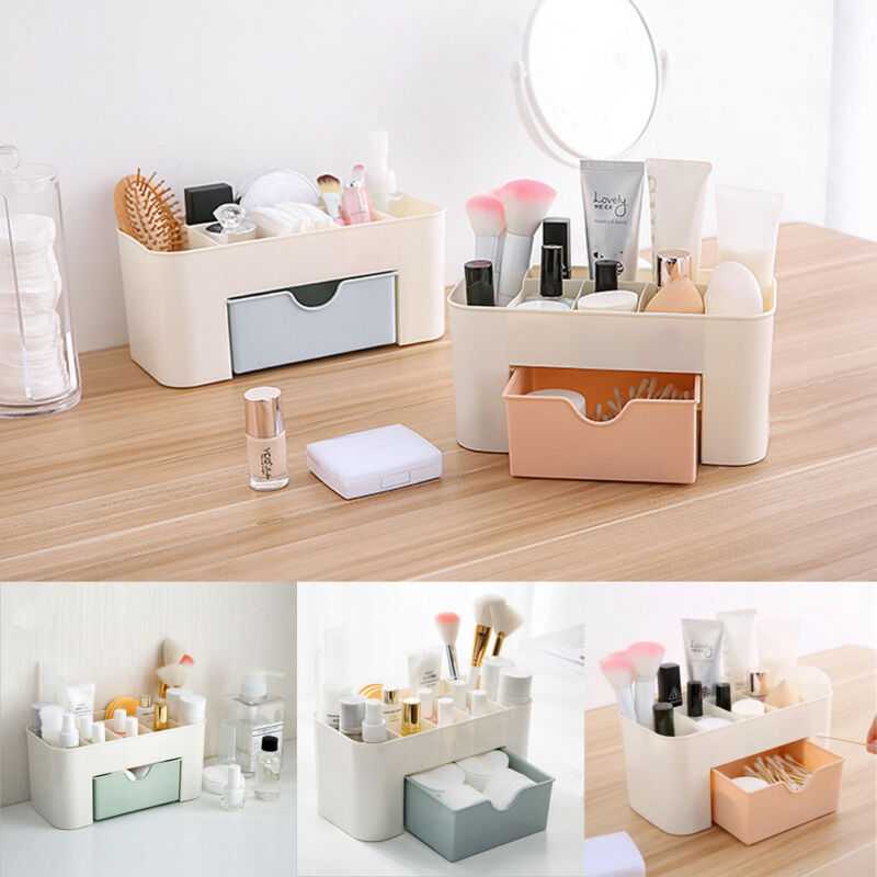 Multifunktions Kunststoff Make-Up <font><b>Organizer</b></font> <font><b>Box</b></font> Schmuck Halskette Nagellack Ohrring Make-Up <font><b>Box</b></font> Hause Desktop-<font><b>Organizer</b></font> Für Kosmetik image