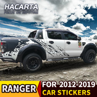 For Ranger 2012 2019 car stickers black pull flowers Rangers pickups modified car front sides Raptor F150 Stickers