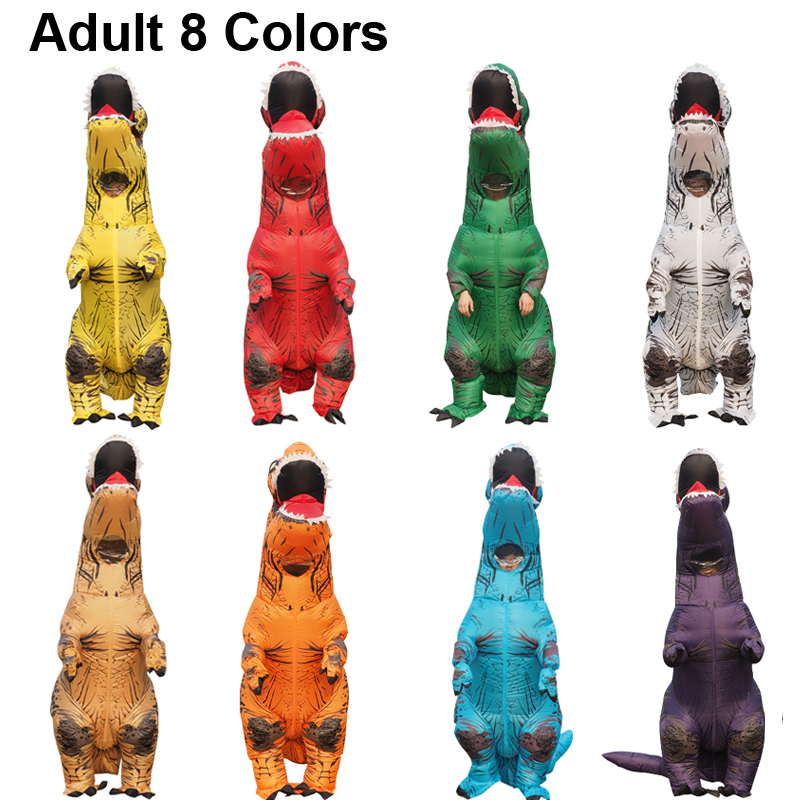 Dragon t rex Dino Rider Suit T-Rex Costume Purim Cosplay Christmas Adult Halloween Inflatable Dinosaur Costume For Women Men (3)