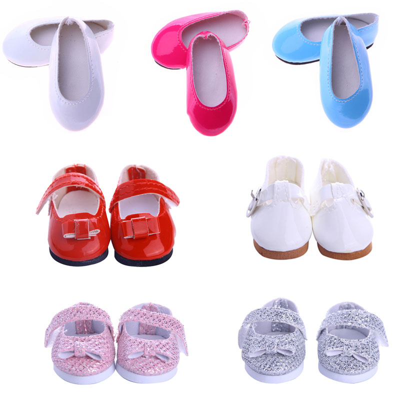 Doll Shoes 15 Cute Shoes For 14.5 Inch Doll Wellie Wisher Doll Generation Christmas Birthday Girl's Toy Gifts