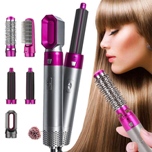 Curling-Brush One-Step-Hair-Dryer Hair-Straightener-Comb Volumizer for 5-In-1