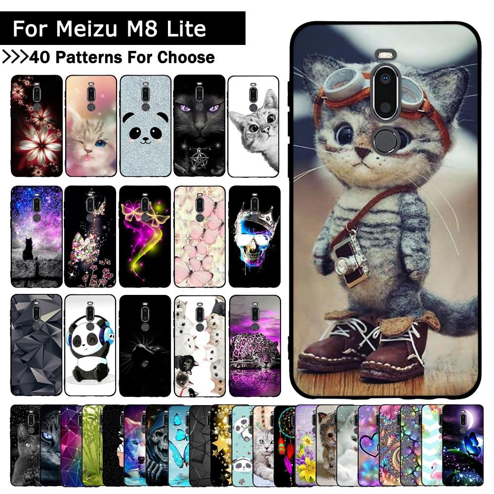 Phone Case For Meizu M8 Cover Silicone Soft Flower Coque For Meizu M8 Lite Case TPU Coque Phone Cases For Meizu X8 Fundas