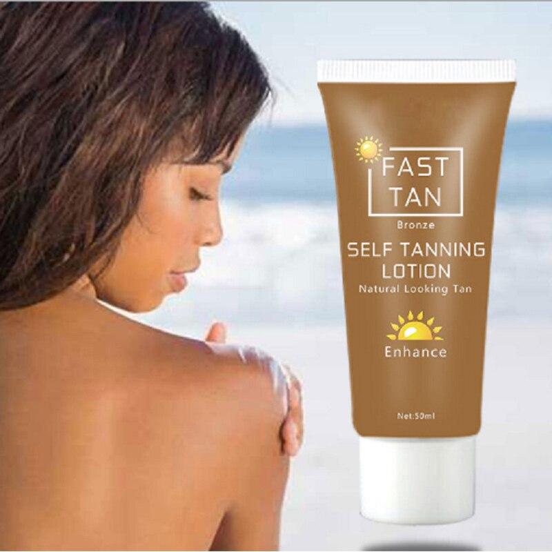 2Pcs Self Tanner For Body Tanning Bronze Cream Sun Block Cream Tanner Lotion Makeup Foundation Sun Tan Oil Beauty Skin Care 50ml
