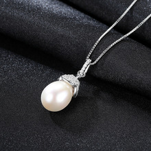 S925 Pure Silver Necklace Pendant with 3A Zircon Natural Freshwater Pearls Necklaces for Women Pendants Jewelry