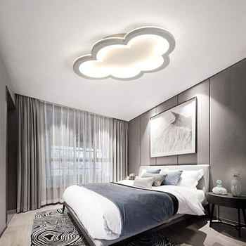 Modern Led Ceiling chandelier Bedroom Children's Room Girl's Room Balcony Cloud Grey and White Acrylic LED chandelier Fixtures