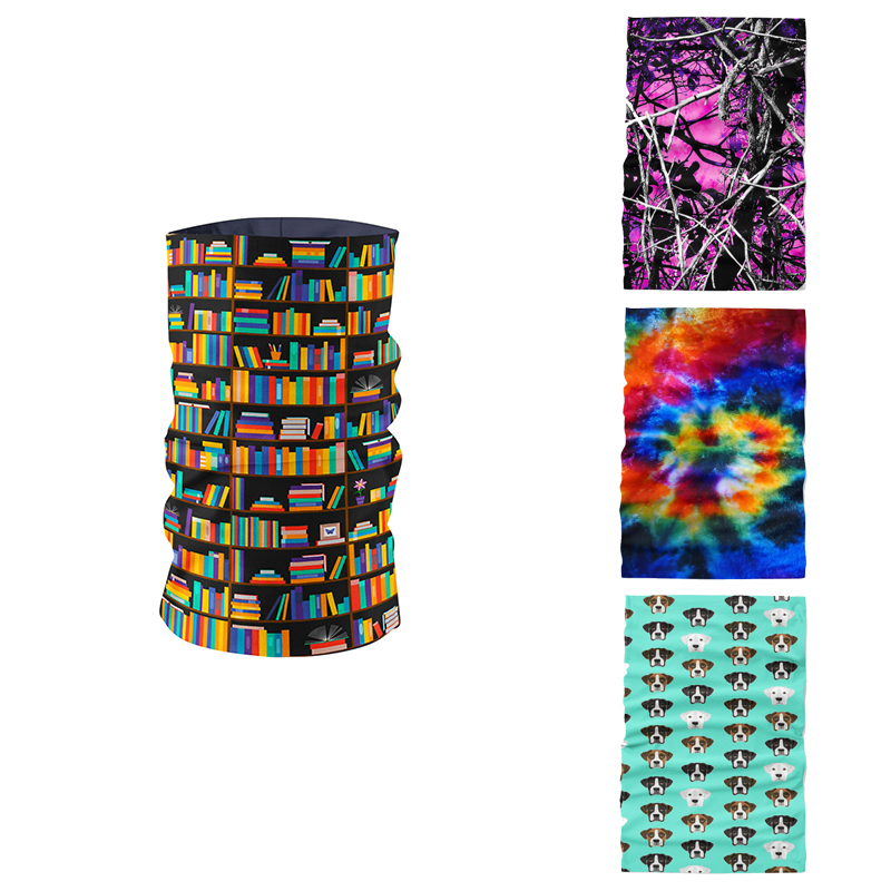 3D Novelty Printed Ring Scarf Magic Bandana Microfiber Seamless Tubular Hijab Neck Tube Sports Scarf Mask Headwear