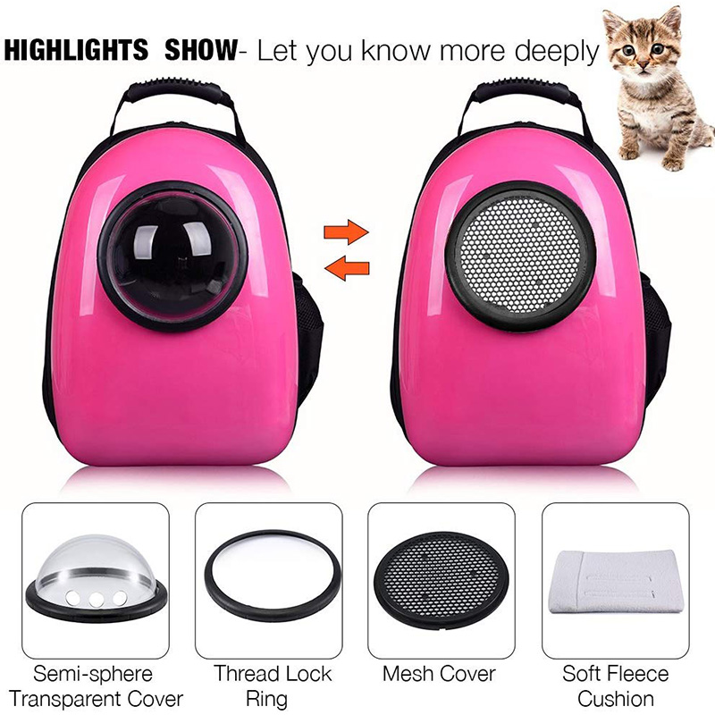 ThinBest Bubble Space Capsule Bag Compact Pet Dog Carrier Backpack Traveler Breathable Tote Kitten Puppy Portable Cat Travel Bag  My Pet World Store