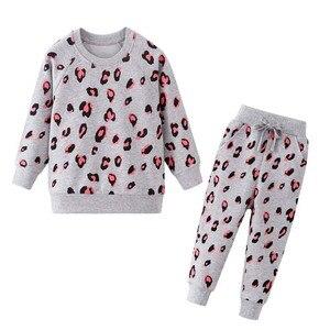 Image 2 - Nova menina roupas de inverno conjuntos da criança manga longa traje terno crianças conjuntos minne