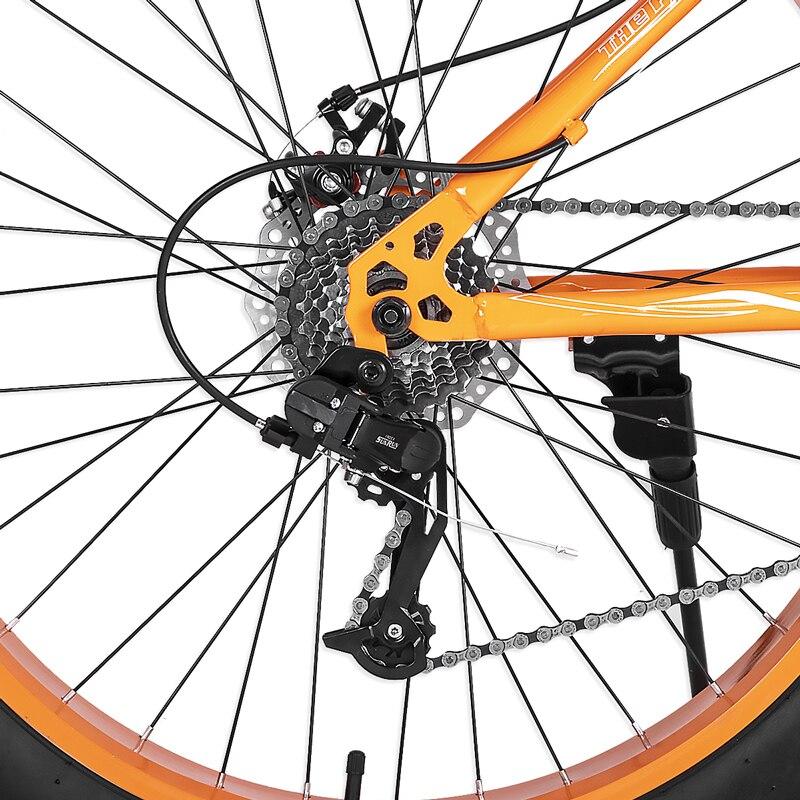neve bicicleta freio a disco duplo bicicleta