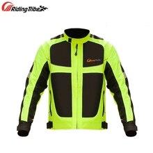 Motorrad Jacke und Hosen Sommer Mesh Atmungsaktive Winter Warme Racing Anzug Motorrad Reiten Reflektierende Warn Kleidung JK 21