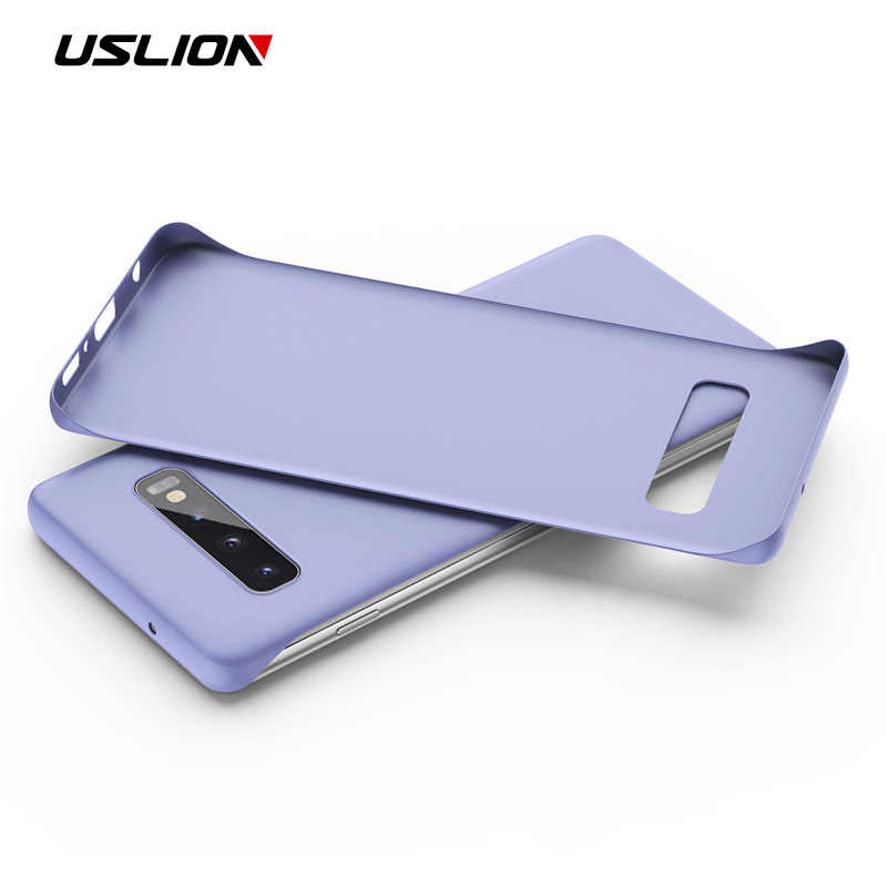 USLION Frameless Phone Case For Samsung Galaxy Note 10 Pro 9 S9 S10 Plus Candy Color Case Ultra Slim Matte Hard PC Back Cover