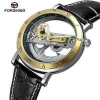 2019 FORSINING nouvelle mode de luxe haut marque Golden Bridge squelette automatique mécanique en acier inoxydable bracelet hommes montre-bracelet