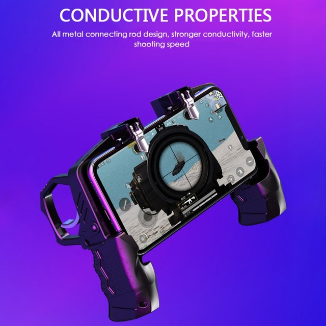 K21 Game Handle PUBG Mobile Phone Gamepad Joystick L1 R1 Trigger Game Shooter Controller For iPhone SamSung Xiaomi Phone 3