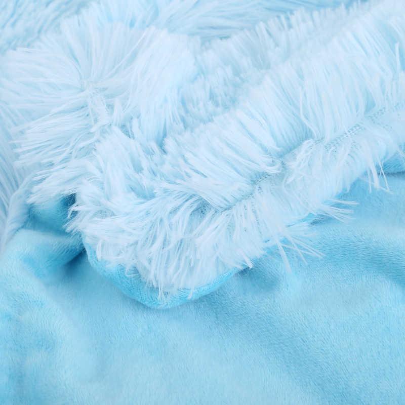 Süper yumuşak bulanık kürk Faux zarif rahat kabarık atmak battaniye yatak kanepe yatak örtüsü uzun tüylü yumuşak sıcak yatak levha büyük