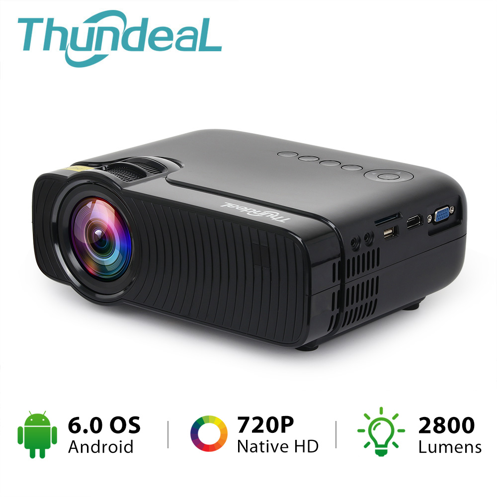 ThundeaL TD30 Max Projector 1280*720 Optional Android 6.0 WiFi Bluetooth HD Mini LED Projector 2800Lumens Video 3D HD Proyector