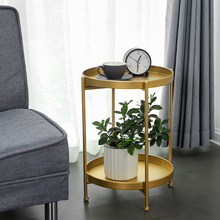 Nordic simple and double deck small tea table sitting room  sofa corner bedroom bedside a few ins wind iron art rou
