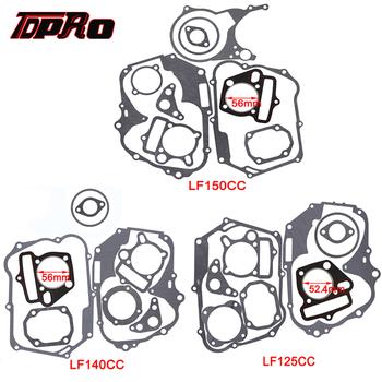 TDPRO 125cc 140cc 150cc Lifan zestaw uszczelki silnika uszczelka cylindra silnika podstawa głowicy do Dirt pitbike motocykl skuter Quad Buggy tanie i dobre opinie Metal Engine Gaskets Set 0inch Silniki 120CC 140CC 150CC 1 cylinder 0 1kg TD300 TD301 TD302 As picture show 100 new on all LIFAN 125 140 150CC Pitbike on the market