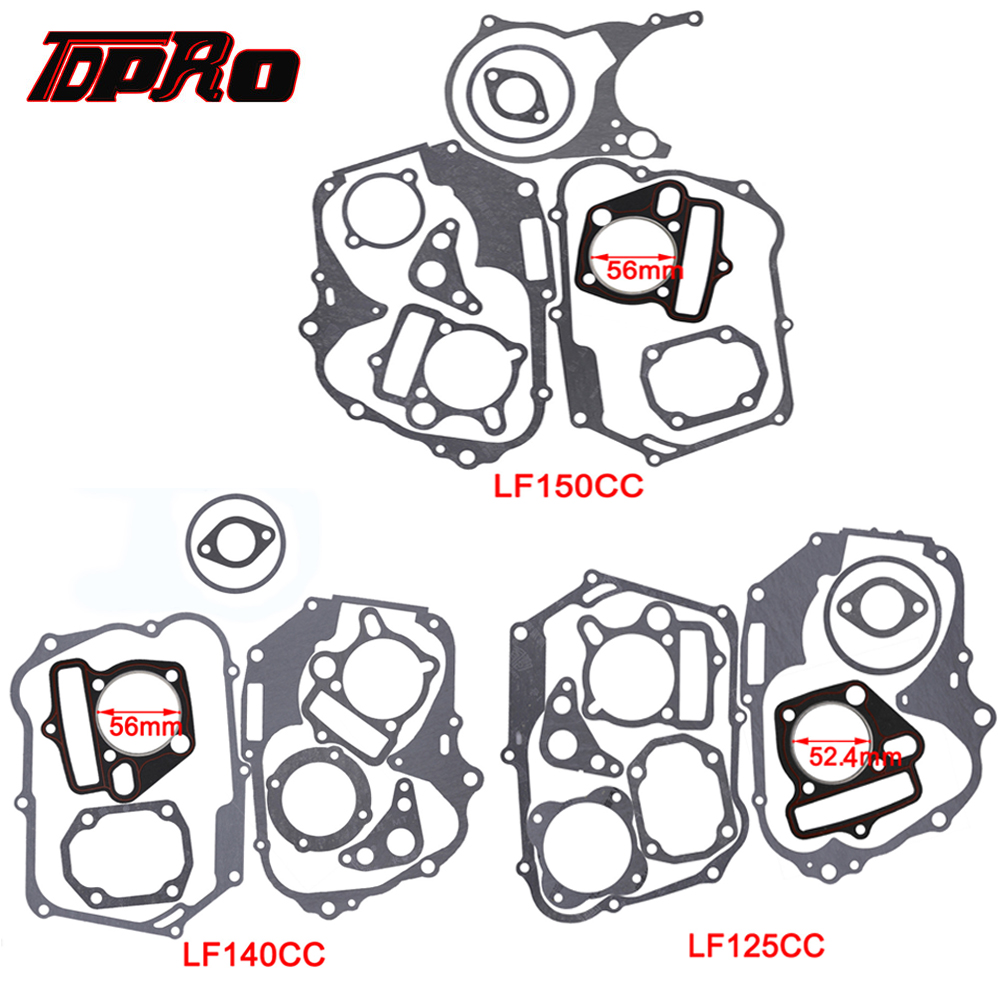 TDPRO <font><b>125cc</b></font> 140cc 150cc Lifan Set Engine Gaskets <font><b>Motor</b></font> Cylinder Gasket Head Base For Dirt Pit Bike Motorcycle Scooter Quad Buggy image