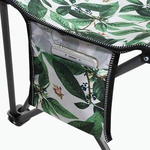 Image 5 - Cadeira de acampamento ao ar livre portátil piquenique dobrável dobrável cadeira ultraleve pesca nova folha de carne verde flor cadeira