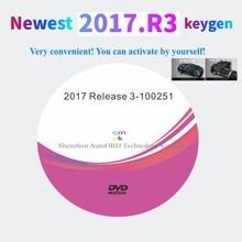 أحدث إصدار 2017.R3 مع برنامج keygen on DVD يدعم وظائف ISS لـ delphis vd ds150e cdp vdIJk Autocoms pro لشاحنة السيارة